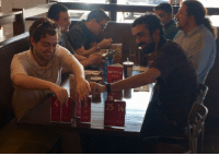 When you go to lunch with programmers they inevitably start sorting something: SUP THE LINE  10  25 14 When you go to lunch with programmers they inevitably start sorting something