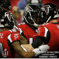 SB51 is the 7th SuperBowl that matches the No. 1 scoring team against the No. 1 scoring defense. Only once in the previous six such games did the high-scoring team win.: SUPER BOWL  FOX  FALCON  FAI  PATRIOTS VS FALCONS  COVERAGE BEGINS  SUNDAY 1 PM ET SB51 is the 7th SuperBowl that matches the No. 1 scoring team against the No. 1 scoring defense. Only once in the previous six such games did the high-scoring team win.