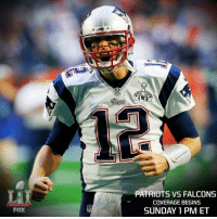 Get ready for a close one. Every 1 of the 6 Super Bowls the @patriots have played since 2001 have seen a final margin of 3 or 4 points. SB51: SUPER BOWL  FOX  NFL  PATRIOTS VS FALCONS  COVERAGE BEGINS  SUNDAY 1 PM ET Get ready for a close one. Every 1 of the 6 Super Bowls the @patriots have played since 2001 have seen a final margin of 3 or 4 points. SB51