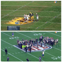 The SuperBowl coin toss, then & now. SB49: SUPER BOWL I  CHIEFS VS PACKERS  OPENING COIN TOSS  65 75 The SuperBowl coin toss, then & now. SB49