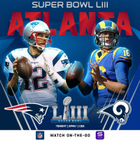 Memes, Patriotic, and Super Bowl: SUPER BOWL LII  18  NF  SUPER BO W L  TONIGHT | 6PMET |CBS  NFLWATCH ON -THE-GO  YAHOO! .@Patriots vs. @RamsNFL on @SuperBowl Sunday! #SBLIII   All the ways you can watch: https://t.co/kfFU8RjkV9 https://t.co/TyySajdGtF