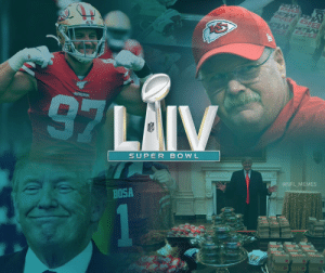 Super Bowl LIV...  The battle of who wants to get to the White House more https://t.co/cp5lG4eqvr: Super Bowl LIV...  The battle of who wants to get to the White House more https://t.co/cp5lG4eqvr