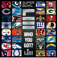 Memes, Super Bowl, and Quest: SUPER  BOWL  nu  WHO  YOU  GOT?  Steelers  ETS  RAIDERS  SUPER B O WL 53 days until the quest for #SBLIII begins...  Who you got? #Kickoff2018 https://t.co/4Nm662LmzY