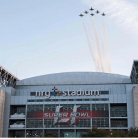 The U.S. AirForce Thunderbirds fly in formation over NRG park ahead of SuperBowl 51 ✈️ WSHH: SUPER BOWL The U.S. AirForce Thunderbirds fly in formation over NRG park ahead of SuperBowl 51 ✈️ WSHH