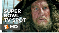 Memes, Johnny Cash, and Pirates: SUPER  BOWL  TV SPOT  E HD Dead Men Tell No Tales. 'Pirates of the Caribbean 5' Super Bowl Spot features some hearty Johnny Cash.