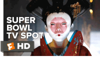 """They did not save your life...they stole it"". Scarlett Johansson goes robotic in new Super Bowl Spot for Ghost In The Shell!: SUPER  BOWL  TV SPOT  F HD ""They did not save your life...they stole it"". Scarlett Johansson goes robotic in new Super Bowl Spot for Ghost In The Shell!"