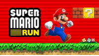 SUPER  MARIO  RUN Super Mario Run, the new Mario game you can play with one hand, will be available in Dec. 2016 on iPhone and iPad.