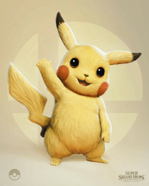 The art director for God of War created this rendering of Pikachu: SUPER  SMASH BRS  R EMASTERED The art director for God of War created this rendering of Pikachu