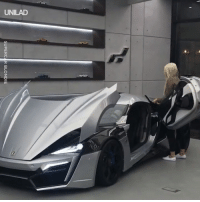 Dank, Control, and 🤖: SUPERCAR BLONDIE This is the Lykan Hypersport. It goes 250mph and has a hologram for a control panel... 😱😍  Supercar Blondie