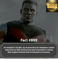 What's your favorite Football team? - marvel superhero facts marvelfacts supervillain deadpool spiderman marveluniverse anime marvelstudios xmen deadpool avengers comics mcu marvelart marvelcomics teamcap civilwar teamironman ironman avengers guardiansofthegalaxy spiderman captainamerica blackpanther stanlee logan wolverine xmen ===================================: SUPERHERO  BOOK  Fact #899  As revealed in the Blu-ray commentary for Deadpool, certain  executives at 20th Century Fox were interested in casting  New England Patriots Rob Gronkowski as Colossus. What's your favorite Football team? - marvel superhero facts marvelfacts supervillain deadpool spiderman marveluniverse anime marvelstudios xmen deadpool avengers comics mcu marvelart marvelcomics teamcap civilwar teamironman ironman avengers guardiansofthegalaxy spiderman captainamerica blackpanther stanlee logan wolverine xmen ===================================
