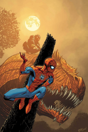Monster, News, and Spider: superhero-news:  Spider-Man by Ed McGuinness (Monsters Unleashed #3 Incentive Variant Cover Monster vs Hero)
