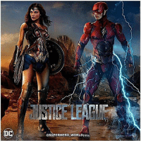 Hype, Memes, and Superhero: @SUPERHERO WORLD1996 Look at Barry Contemplating if he should use his super speed and kiss Diana while she's not Looking. 😂 Shoutout to The Artist @superhero_world1996 for making This Dope FanArt for The JusticeLeague Movie Featuring GalGadot as WonderWoman and EzraMiller as TheFlash ! DCEU HYPE DCExtendedUniverse 💥 DCFilms
