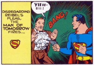 Superman shoots someone: Superman shoots someone