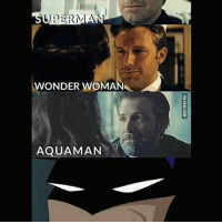Memes, Superman, and Infamous: SUPERMAN  WONDER WOMA  AQUAMAN The infamous smirk @comicshq