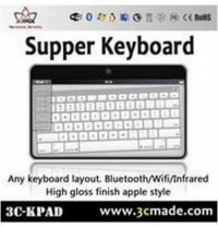 Delicious!: Supper Keyboard  Any keyboard layout. BluetoothWifi/Infrared  High gloss finish apple style  www.3cmade.com  3C-KPAD Delicious!