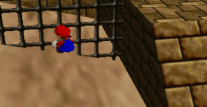 suppermariobroth:In Super Mario 64, landing in quicksand from a tall enough height will result in Mario becoming stuck as though it was regular sand. After freeing himself, Mario will promptly die.: suppermariobroth:In Super Mario 64, landing in quicksand from a tall enough height will result in Mario becoming stuck as though it was regular sand. After freeing himself, Mario will promptly die.