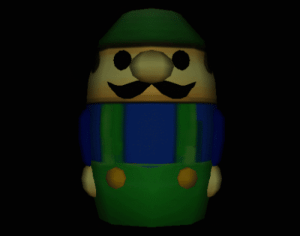 Tumblr, Blog, and Http: suppermariobroth:Unused model for a Luigi toy resembling a nesting doll from Luigi's Mansion.