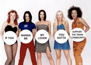 community: SUPPORT  THE TRANS  WANNA  BE  MY  LOVER  YOU  GOTTA COMMUNITY  IF YOU