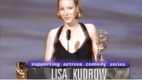 supporting actress comedy series  1 LISA KUDROWl Here's Lisa winning her well deserved award for Best Supporting Actress in a Comedy Series at the 1998 Emmy Awards. She's so adorable I love her! Watch the full video on YouTube. Sorry for being so bad at posting lately, I hope everyone has a good weekend! friends friendstv friendstvshow ilovefriends friendsvideos friendstvvideos lisakudrow phoebe emmy 1998 actress awards comedyseries