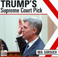 Supreme Court, Denver, and Conservative: Supreme Court Pick  F NEIL GORSUCH  NEWS  h a  Denver Post Photo By John Prieto Just in: Trump is nominating Neil Gorsuch to take Scalia's position. I think he's a pretty good pick! What about y'all? Tell me in the comments why or why not. supremecourt neilgorsuch trumpmemes liberals libbys democraps liberallogic liberal ccw247 conservative constitution presidenttrump nobama stupidliberals merica america stupiddemocrats donaldtrump trump2016 patriot trump yeeyee presidentdonaldtrump draintheswamp makeamericagreatagain trumptrain maga Add me on Snapchat and get to know me. Don't be a stranger: thetypicallibby Partners: @theunapologeticpatriot 🇺🇸 @too_savage_for_democrats 🐍 @thelastgreatstand 🇺🇸 @always.right 🐘 TURN ON POST NOTIFICATIONS! Make sure to check out our joint Facebook - Right Wing Savages Joint Instagram - @rightwingsavages Joint Twitter - @wethreesavages Follow my backup page: @the_typical_liberal_backup