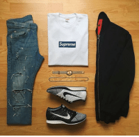 Boxing, Funny, and Supreme: Supreme RT @StreetwearDaiIy: Nice fit with the Supreme box logo and the fly knits