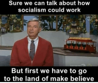 Memes, Hawaii, and 🤖: Sure we can talk about how  socialism could work  But first we have to go  to the land of make believe Thanks to the Libertarian Party of Hawaii for this post! To get involved locally, go to lp.org/states!