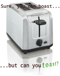 "Reddit, Ask, and Com: Sure, you can boast. .  CANCEL  ...but can youtoast? <p>[<a href=""https://www.reddit.com/r/surrealmemes/comments/8k8quv/ask_the_self/"">Src</a>]</p>"