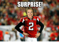 At least the Falcons won the popular vote...: SURPRISE!  @NFL MEMES  FALENNS At least the Falcons won the popular vote...