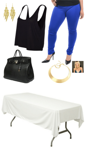 surprisebitch:  STEAL HER LOOK - Angry black woman throwing table and catching chairs Gold Angel Wing Earrings - $5.99 (sold at Macys) Ralph Lauren Flowy Box Black Tank Top - $49.00 Nordstrom Royal Blue Sleek Leggings - $58.75 Hermes Black Birkin Bag - $18,999.00 Gold Collar Necklace - $5,989.55 (as worn by Rihanna) Commercial Wooden Foldable Table - $54.35 (including White Lacoste Polyester Knit Tablecloth) Prada Stilettos (optional) - $740.00 : surprisebitch:  STEAL HER LOOK - Angry black woman throwing table and catching chairs Gold Angel Wing Earrings - $5.99 (sold at Macys) Ralph Lauren Flowy Box Black Tank Top - $49.00 Nordstrom Royal Blue Sleek Leggings - $58.75 Hermes Black Birkin Bag - $18,999.00 Gold Collar Necklace - $5,989.55 (as worn by Rihanna) Commercial Wooden Foldable Table - $54.35 (including White Lacoste Polyester Knit Tablecloth) Prada Stilettos (optional) - $740.00