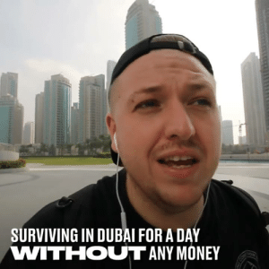 This lad wanted to see if he could survive in Dubai for a day with no money. Freebies are easier to get than you think... 😱  YouTube: Simon Wilson: SURVIVING IN DUBAI FOR A DAY  VWITIHOUT ANY MONEY This lad wanted to see if he could survive in Dubai for a day with no money. Freebies are easier to get than you think... 😱  YouTube: Simon Wilson