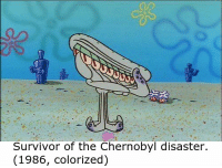 Colorized: Survivor of the Chernobyl disaster.  (1986, colorized)