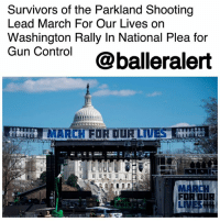 "Survivors of the Parkland Shooting Lead March For Our Lives on Washington Rally In National Plea for Gun Control - blogged by @MsJennyb ⠀⠀⠀⠀⠀⠀⠀⠀⠀ ⠀⠀⠀⠀⠀⠀⠀⠀⠀ Just one week after the nationwide school walkout in protest of gun violence, survivors of the Valentine's Day massacre have banned together in another national plea for gun control. ⠀⠀⠀⠀⠀⠀⠀⠀⠀ ⠀⠀⠀⠀⠀⠀⠀⠀⠀ On Saturday, the group is set to lead a march on Washington to honor the victims of the deadly Parkland high school shooting, and call on Congress for stricter gun laws. ⠀⠀⠀⠀⠀⠀⠀⠀⠀ ⠀⠀⠀⠀⠀⠀⠀⠀⠀ March for Our Lives on Washington is set to begin at noon near the nation's capitol. However, several sister marches are taking place around the country, and the world as a statement for gun control. ⠀⠀⠀⠀⠀⠀⠀⠀⠀ ⠀⠀⠀⠀⠀⠀⠀⠀⠀ ""Our youth are being confronted with these shootings and all the violence, and I think they're looking at it and saying most people support some kind of change ... but yet our laws don't quite seem to be working with the people,"" a chaperone of the trip said. ""So the youth of this country said, 'Enough is enough.' The kids are running all this.""⠀⠀⠀⠀⠀⠀⠀⠀⠀: Survivors of the Parkland Shooting  Lead March For Our Lives on  Washington Rally In National Plea for  Gun Control @balleralert  MARCH FOR DUR LIVE  FOR DUR  LIVES冊 Survivors of the Parkland Shooting Lead March For Our Lives on Washington Rally In National Plea for Gun Control - blogged by @MsJennyb ⠀⠀⠀⠀⠀⠀⠀⠀⠀ ⠀⠀⠀⠀⠀⠀⠀⠀⠀ Just one week after the nationwide school walkout in protest of gun violence, survivors of the Valentine's Day massacre have banned together in another national plea for gun control. ⠀⠀⠀⠀⠀⠀⠀⠀⠀ ⠀⠀⠀⠀⠀⠀⠀⠀⠀ On Saturday, the group is set to lead a march on Washington to honor the victims of the deadly Parkland high school shooting, and call on Congress for stricter gun laws. ⠀⠀⠀⠀⠀⠀⠀⠀⠀ ⠀⠀⠀⠀⠀⠀⠀⠀⠀ March for Our Lives on Washington is set to begin at noon near the nation's capitol. However, several sister marches are taking place around the country, and the world as a statement for gun control. ⠀⠀⠀⠀⠀⠀⠀⠀⠀ ⠀⠀⠀⠀⠀⠀⠀⠀⠀ ""Our youth are being confronted with these shootings and all the violence, and I think they're looking at it and saying most people support some kind of change ... but yet our laws don't quite seem to be working with the people,"" a chaperone of the trip said. ""So the youth of this country said, 'Enough is enough.' The kids are running all this.""⠀⠀⠀⠀⠀⠀⠀⠀⠀"