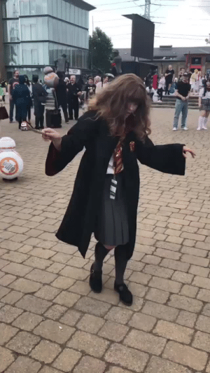 Fucking, Hermione, and Target: sutherswastaken:  theshitneyspears:  hermione snapped on this one  Is everyone just gonna ignore the guy dressed as Aku Aku fucking BB-8 in the background