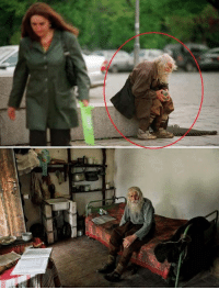 Clothes, Money, and Lost: Sv 98 year old Dobri Dobrev, a man who lost his hearing in the second world war, walks 10 kilometers from his village in his homemade clothes to the city of sofia, where he spends the day begging for money. though a well known fixture around several of the city's churches, known for his prostrations of thanks to all donors, it was only recently discovered that he has donated every penny he has collected — over 40,000 euros — towards the restoration of decaying bulgarian monasteries and churches and the utility bills of orphanages, living instead off his monthly state pension of 80 euros.