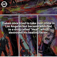 "Crime, Marvel Comics, and Memes: SVF  WHAT'S  I DON'T  WANT TO  BEHIND THAT  DOOR  THE DOOR  KNOW  Daken once tried to take over crime in  Los Angeles but became addicted  to a drug called ""Heat'  which  destroyed his healing factor Daken!!! 😈 daken wolverine itsu marvel comic comics fact facts amazing interesting geek marvelcomics drugaddict drug healingfactor heat marvelvillains antihero mother father son geeks"