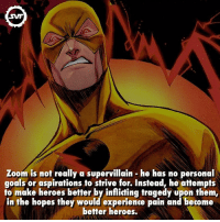 Hunter Zolomon - Zoom 👽💫 zoom villain villains fact facts amazing dc comic comic dccomics dcvillains dcvillain dccomic svf zolomon hunterzolomon flash speedster fast runfast faster: SVF  Zoom is not really a supervillain he has no personal  goals or aspirations to strive for. Instead, he attempts  to make heroes better by inflicting tragedy upon them,  in the hopes they would experience pain and become  better heroes. Hunter Zolomon - Zoom 👽💫 zoom villain villains fact facts amazing dc comic comic dccomics dcvillains dcvillain dccomic svf zolomon hunterzolomon flash speedster fast runfast faster