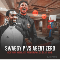 Nick Young really let Gilbert Arenas back into his home 😂😂: SWAGGY P VS AGENT ZERO  NICK YOUNG AND GILBERT ARENAS PLAY H.O.R.S.E. AT HOME.  CL Nick Young really let Gilbert Arenas back into his home 😂😂