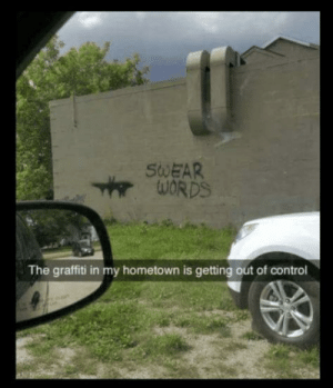 Dank, Graffiti, and Memes: SWEAR  The graffiti in my hometown is getting out of control Out of control. by FireBOY44 MORE MEMES