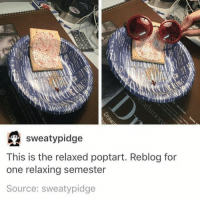 i told my mom i think im pregnant for fun (i am not nor did i think i was) and she was just like oh don't be silly you just ate too much thanks mom for keeping it real!!!: sweaty pidge  This is the relaxed poptart. Reblog for  one relaxing semester  Source: sweaty pidge i told my mom i think im pregnant for fun (i am not nor did i think i was) and she was just like oh don't be silly you just ate too much thanks mom for keeping it real!!!