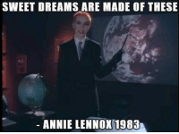 annie lennox: SWEET DREAMS ARE MADE OF THESE  ANNIE LENNOX 1983