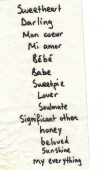 Love, Target, and Tumblr: Sweetheart  Mon coeur  Mi amer  Ebe  Labe  Lover  Soulmate  honey  Sun shine  Sigian other  my everyting lovequotesrus:  EVERYTHING LOVE