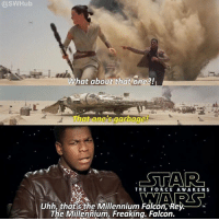 """Would you guys want me to make more of these funny """"Reality TV"""" scenes? Let me know! Admin: Finn, SWHub: @SWHub  What about that one?!  That one 's garbage!  THE FORCE AWAKENS  Uhh,thafsthe Millennium Falcon,Rey-  TM  The Millennium. Freakina. Falcon. Would you guys want me to make more of these funny """"Reality TV"""" scenes? Let me know! Admin: Finn, SWHub"""