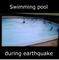 Memes, Earthquake, and Pool: Swimming pool  04 Z5 10:39:17  CIIa  during earthquake This is pretty terrifying: pools during earthquakes!! @pmwhiphop