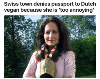 Target, Tumblr, and Vegan: Swiss town denies passport to Dutch  vegan because she is 'too annoying wilburite:  me as a government