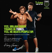 "SWISS  Tubes  TRAIN THE F OUT  DESIGNED IN  CALIFORNIA  YES, URIJAH FABER  TRAINS IN  TUBES.  YES, HE BEATSPEOPLEUR  TRAIN WITH KENNY AND URIJAH AT  KSWISS.COM/TUBES  FYI  Watch my show EASTBouND & Down,  SEPTEMBER 26 TH ONLY  ON HBO  You"" thank me morning Just came across this Gem 😂Kenny MotherF@$!?n Powers 💎"