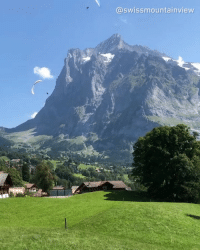 9gag, Memes, and Switzerland: @swissmountainview Go paragliding or enjoy the view on the cable car? 🤔 Follow @voyaged | By @swissmountainview - view ch switzerland 9gag