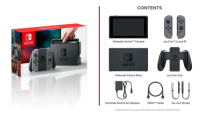 The NintendoSwitch will arrive on March 3rd!: SWITCH.  NINTENDO  SWITCH  CONTENTS  Joy-Con (L and R)  Nintendo Switch M Console  NINTENDO  SWITCH  Nintendo Switch Dock  Joy-Con Grip  Nintendo Switch AC Adapter  HDM  Cable  Joy-Con Straps  Nintendo Switch and Joy-Con are trademarks of Nintendo. 2017 Nintendo. The NintendoSwitch will arrive on March 3rd!