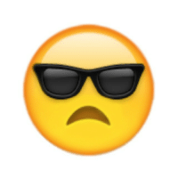 Very necessary emoji for when you're sad yet still cool as fuck