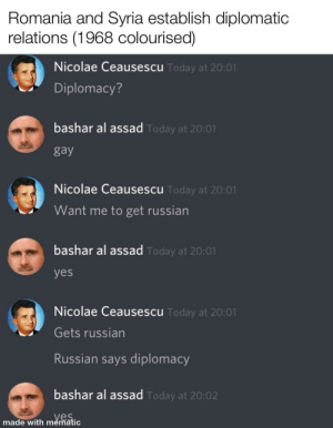Syria and Romania begin diplomatic relations (1968 colourised): Syria and Romania begin diplomatic relations (1968 colourised)
