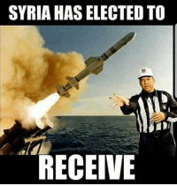 Nfl, Syria, and Merica: SYRIA HAS ELECTED TO  RECEIVE Merica.
